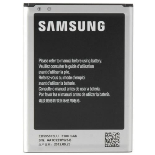 Samsung Akkublock (Li-Ion, 3.100 mAh), kompatibel mit Galaxy Note 2/Note 2 - Handy Samsung Note 2