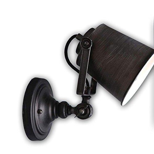 FLTRADE Industrielle Vintage Wandleuchter mit Einstellbar Kopf, Rustikale Metall Wandlampe Licht Antik E27 Loft Wandleuchte Leuchte für Veranda,Haus, Bar, Restaurants, Kaffee Decorat (Ohne Lampe) (Rustikale Kerze Wandlampen)