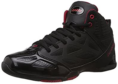 Lotto Men's Free Hi Black and Red Running Shoes - 6 UK/India (40 EU)