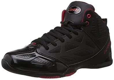 Lotto Men's Free Hi BLACK AND RED Basketball Shoes - 10 UK/India (44 EU)