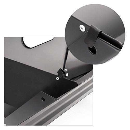 419wRbpFLcL - Relaxdays Klappgrill, praktisch, tragbar, inkl. Rost und Kohleschale, H x B x T: 30,5 x 30 x 45,5 cm, schwarz