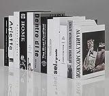 QAQ Libro Falso Nordic Bianco e Nero Stile Grigio Finto Libro Decorazione Decorazione Libro Simulazione Libro Decorazione Creativa Piccoli arredi casa Moderna