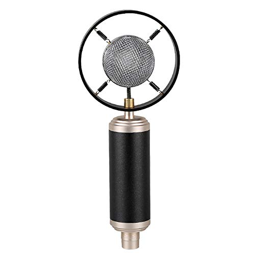 SG Mikrofon Retro Condenser Mikrofon Mobile Computer Live Recording Microphone Network K Song Shouting Wheat,Schwarz