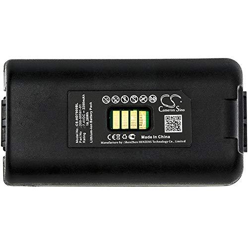 Barcode, Scanner-Batterie Li-Ion-Barcode-Scanner-Batterie des kompatiblen LXE 2200mAh / 16.28Wh 7.4V passt Modell MX6 nachladbare Zellen (Farbe : Schwarz, Größe : 79.64 x 41.60 x 23.10mm)