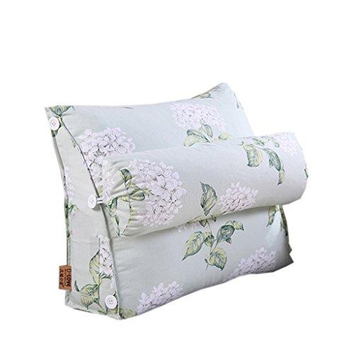 Dossier De Chevet Modern Triangle Sofa Cushion Design ergonomique avec coussin de tête amovible Coussin de chevet Pure Color Slow-rebound Backrest Pillow Flower Pattern 60 * 50cm (Couleur : O)