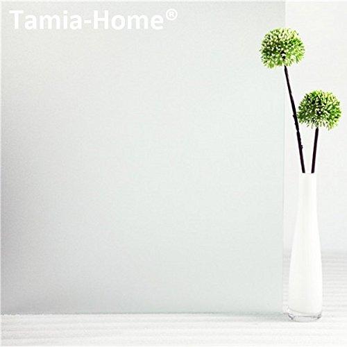 """Tamia-Home Statische Fensterfolie 90% UV-Sonnenschutz Selbsthaftende Sichtschutzfolie Glasdekor S001 """"Milchglas"""", 90x100cm)"""