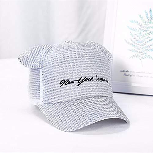 mlpnko Sombrero Iluminado de Malla Transpirable para Hombres y Mujeres Sombrero para el Sol del bebé Gorra de protección Solar Sombrero para el Sol Gris de 2 a 8 años