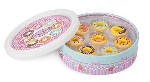 small foot company Donuts Small Foot, 8 Piezas en una Bonita Caja de Regalo, Tienda Comercial, certificada 100% FSC, barnizada con Colores inofensivos. Juguetes, by Legler 11069