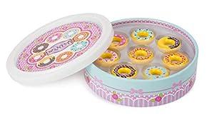 small foot company-Donuts Small Foot, 8 Piezas en una Bonita Caja de Regalo, Tienda Comercial, certificada 100% FSC, barnizada con Colores inofensivos. Juguetes, Multicolor by Legler 11069
