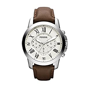 Fossil Reloj Cronógrafo para Hombre de Cuarzo con Correa en Cuero FS5151