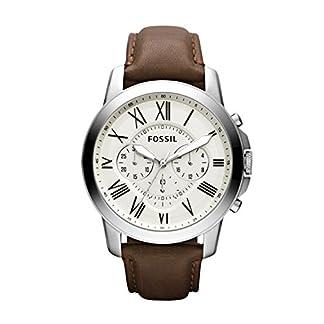 Fossil Reloj Cronógrafo para Hombre de Cuarzo con Correa en Cuero FS4735