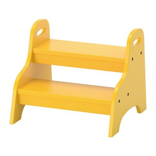 IKEA TROGEN Tritthocker in gelb; (40x38x33cm)