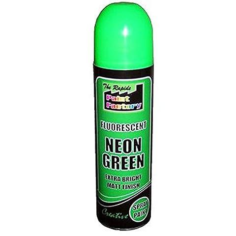 200ml de haute qualité métallique peinture en spray aérosol décoratif intérieur ou extérieur pour métal en plastique en bois vert fluorescent