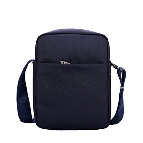 XSY Antifurto Zipper e Buckle Borsa a Tracolla Uomo Vintage Spalla Messenger Valigetta da Ufficio Nero Blu