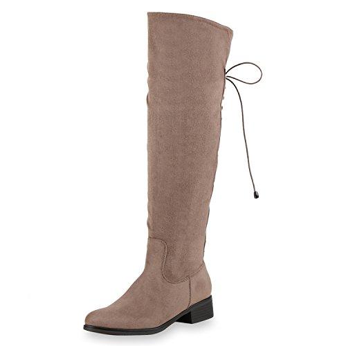 Gefütterte Damen Schnürstiefel Schleifen Bequeme Stiefel Schuhe Khaki (Sale Stiefel Damen)