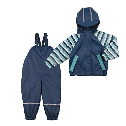 Bornino Bornino Regenanzug 2-TLG. / Baby Bekleidung Jungen/Regenhose/Regenjacke/Marine/Ringel