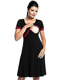 Zeta Ville - Deux pièces set robe top court grossesse allaitement - femme - 716c