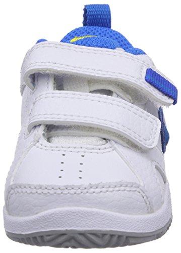 Nike Lykin 11 (Tdv), Chaussures premiers pas bébé garçon Blanc (White/Photo Blue-Tribe Yellow-Hyper Cobalt)
