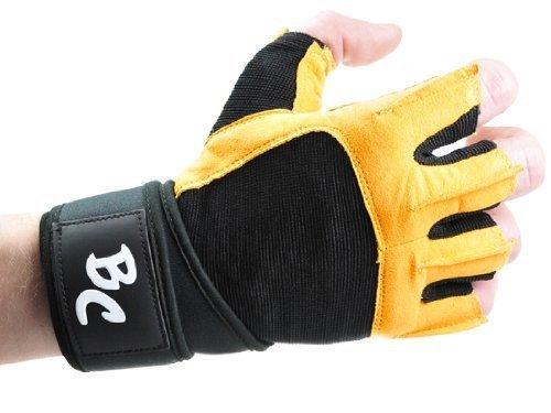Bad Company | Fitness Handschuhe The Bat | Trainingshandschuhe aus Leder | Inkl. Handgelenkstütze