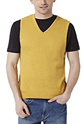 Peter England Mens Regular Fit Sweater_ PSW51500640_M_ Yellow