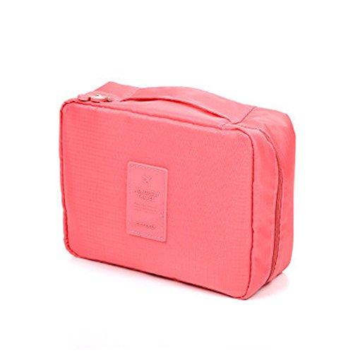 Kleidertaschen IHRKleid® Waschbeutel Einfach Kosmetiktasche Speicherpaket Vielseitig Reise Akzeptiere das Paket (Wine red) Rot
