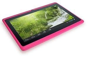 CONNECT A7 Classic B Tablette Tactile - 7 pouces écran capacitif, Android 4.2, 4 Go de stockage, 1.2GHz processeur, caméra frontale, WIFI Tablet PC, vidéo HD, batterie 2400mah, Google Play Store, soutient Word, Excel, PowerPoint, PDF et plus (Rose)
