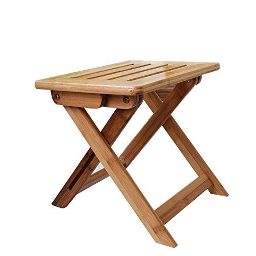 stool Tragbare Bambus Hocker Wasserdicht Hocker für Dusche Set Fuß Klappstuhl für Picknick Angeln...