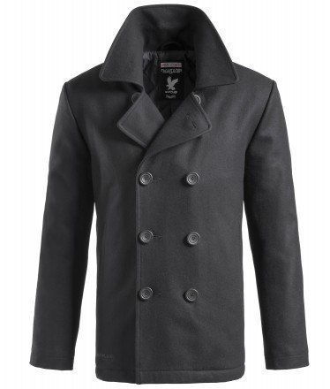 Surplus Herren PEA Coat, Schwarz, XXL - Warehouse-mantel
