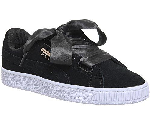 Puma-Suede-Heart-Vr-Mujer-Zapatillas-Negro
