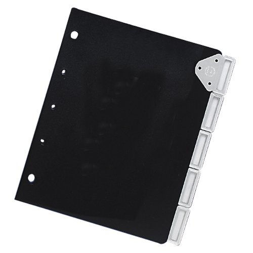 Master Catalog Rack Index Set, Ideal for Protecting and Organizing Materials in Catalog Racks, Black/Silver (MATB6125M) by Master Products (Master-index)