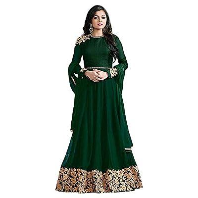 4Fashion Empire Designer Latest Georgette Embroidred green Anarkali Salwar Suit (4Fashion empireER10487_free size_green)