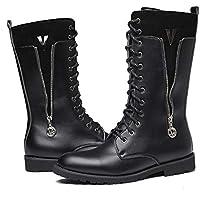 Wanlianer Bota de Hombre Martin Botas British High Boots Artificial PU Skid Resistencia Hombres Zipper Boots Hombres Zapatos (23.5cm-28cm) Invierno (tamaño : 43 1/3 EU)