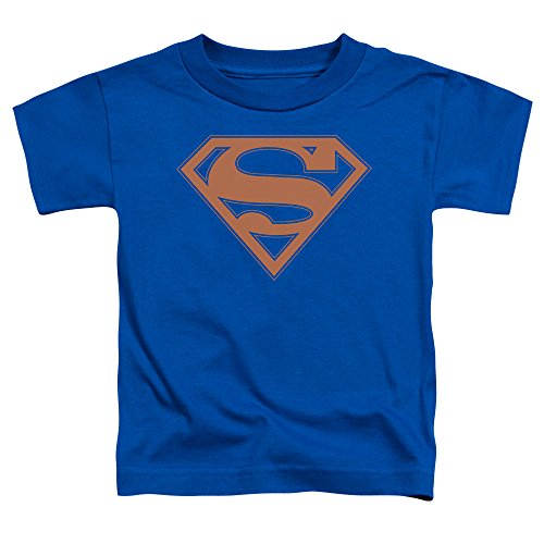 Superman - Kleinkinder Blue & orange Shield T-Shirt, 4T, Royal Blue (Royal Kleinkind T-shirt Blue)