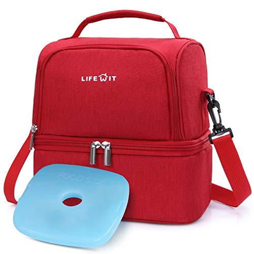 Lifewit Kühltasche klein mit Kühlakku für kühlbox Lunchtasche isoliert Thermotasche Isoliertasche Picknicktasche für Lebensmitteltransport,Rot