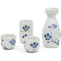 Tazas pintadas a mano. 5piezas tradicional japonés de porcelana