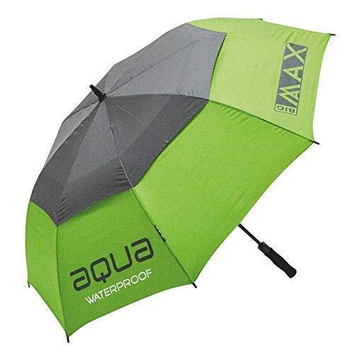 """Big Max 50{40064420a2b51a22c1a0d2d3560e251d7e066a74e04153e8c05f0a76c4a2c58b} Aqua Wasserfest 60\"""" Doppel Vordach Automatisch Offen Golf Schirm - Grün/Grau"""