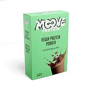 419wd%2BpWhmL. SS300 Moove Protein - Polvere proteica vegana di riso e piselli - Sapore di cioccolato - 500g