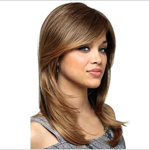 (Wig Hochtemperatur Seidenmode-Damen flauschige lange Perücke Kopfbedeckung)