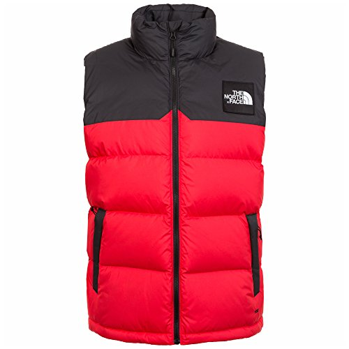 The North Face 1992 Nuptse Daunenweste Herren rot / schwarz / weiß, S (North Jacket The Face Schwarz Down)