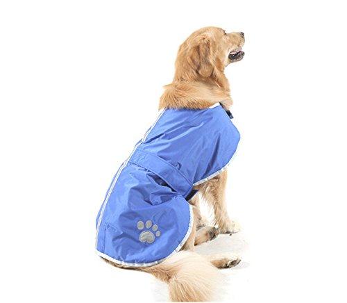 sypure (TM) XL 4X L speciale solo per cani grandi Paw Stampa Cappotto per grandi, Inverno per cani Cane mantello Pet Dog Jacket, Blue, 4 l - Paw Stampe
