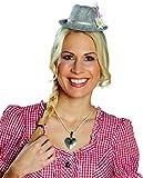 NEU Hut Mini Tiroler mit Haarreif, grau