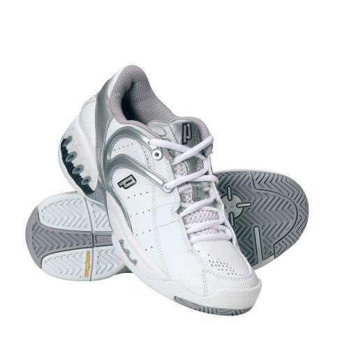 Prince Tennis Footwear, Chaussures tennis femme - Blanc/argenté/noir