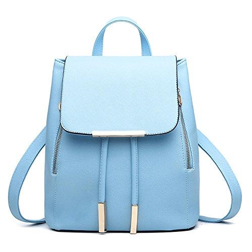 Sacchetto di spalla dello zaino delle signore delle ragazze delle donne delle donne del zaino del sacchetto di spalla di Myleas Blu