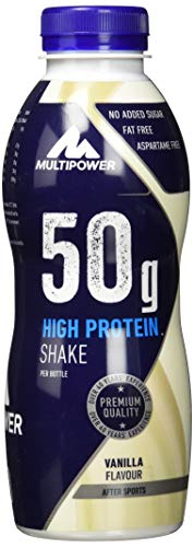 Multipower 50g Protein Shake (12x500ml) Vanilla, 6000 ml