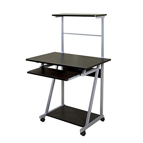 Zhuozi FUFU Tische Computertisch aus Holz, großer Schreibtisch, Computertisch, Schreibtisch Drop-Blatt-Tabelle (Color : Black) - Auf Klammern Sie Schreiben Auf Blatt