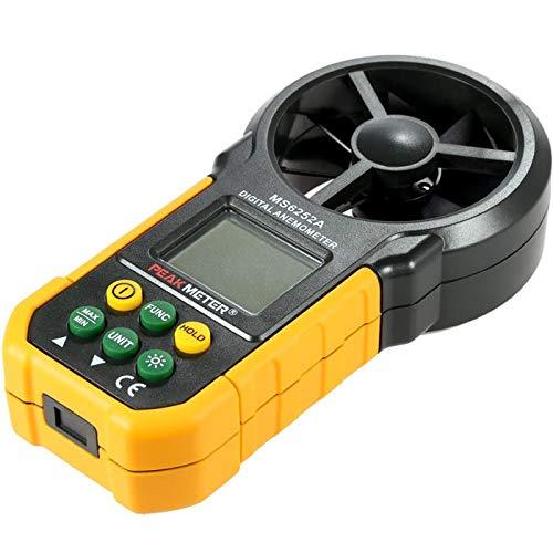 CuteLife Medidor de Velocidad del Viento El Volumen Digital Multifuncional Aire anemómetro del tacómetro...