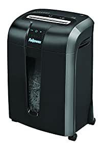 Fellowes Powershred 73Ci Destructeur de Documents 12 Feuilles Coupe Croisée Technologies 100% Anti-bourrage - SafeSense et Energy Savings