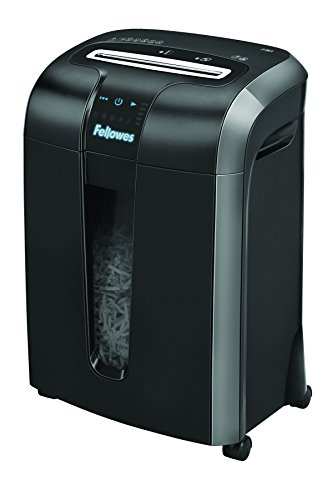 Fellowes 73Ci - Destructora trituradora de papel, corte en partículas, 12 hojas, color negro
