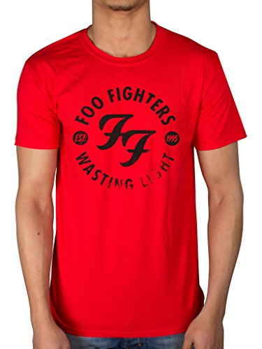 Foo fighters, t-shirt, wasting light t-shirt loops sonic highways matter of time red large