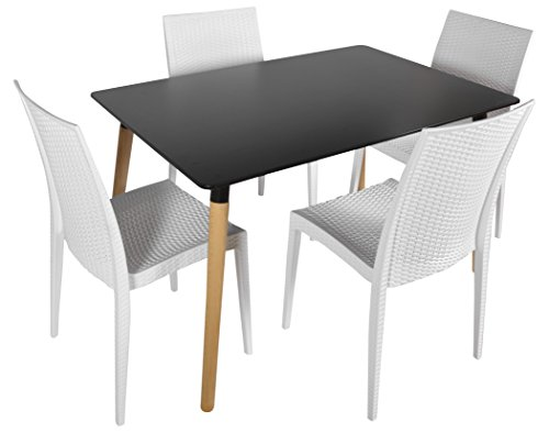 FABERGE Contemporary 1+ 4 Seater Dining Room Sets (White)